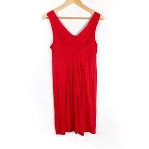 LOFT Dress Size Small Red Sleeveless Women's